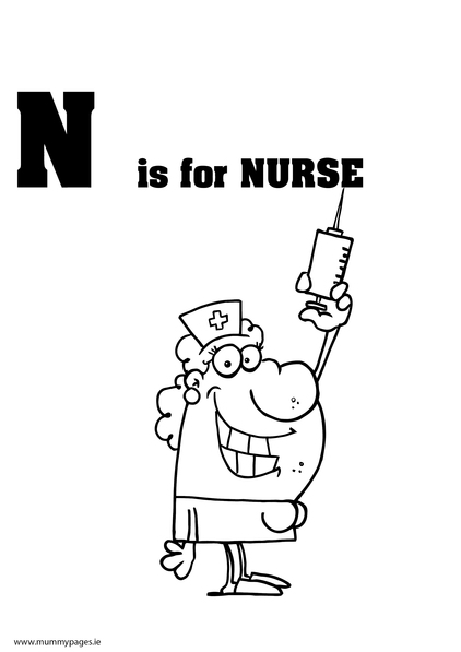 Nursing Tools Coloring Pages