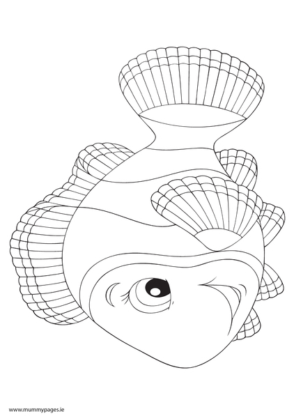 Nemo Coloring Pages Pdf : Fish nemo colouring page mummypages ie
