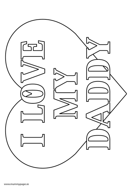 i love dad coloring pages - photo #18