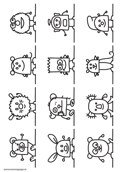 friendly monster coloring pages - photo#6