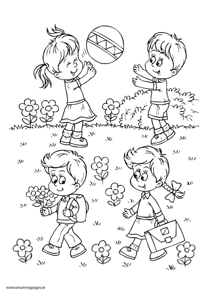 boy summer coloring pages - photo#5