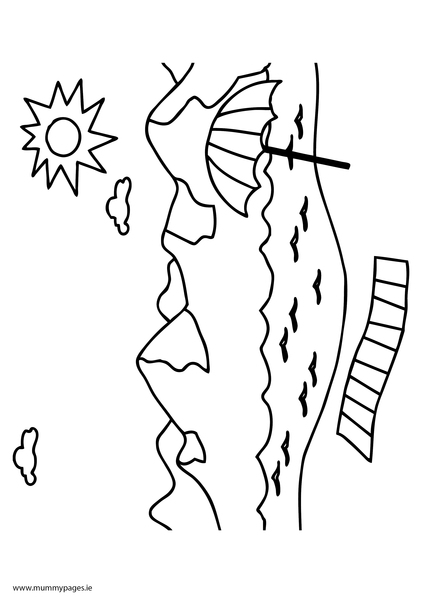 coloring pages seaside - photo#3