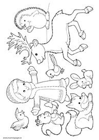 Winter colouring pages for Winter animal coloring pages