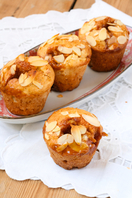 Pear and toffee muffins