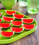 Watermelon jelly slices