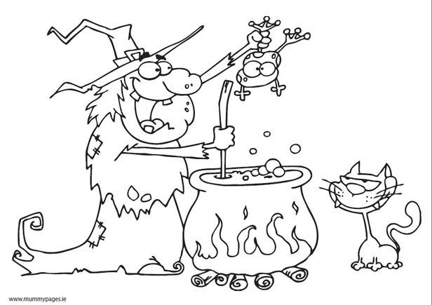 yoga coloring pages halloween free - photo#12