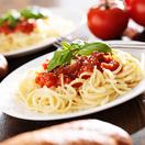 Linguini with homemade tomato sauce