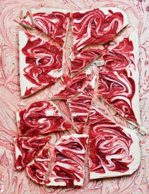 Raspberry Ripple with White Chocolate Slab Recipe photo
