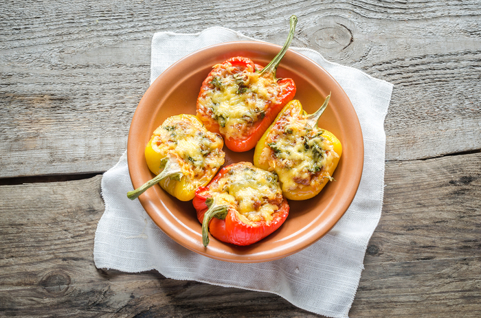 Stuffed peppers with halloumi and cous cous | MummyPages.MummyPages.ie