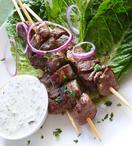 Lamb kebab skewers