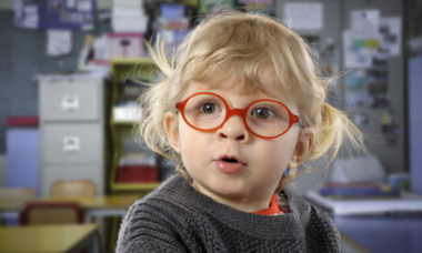 Small kids and glasses