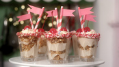 Mini chestnut cheesecake sundaes