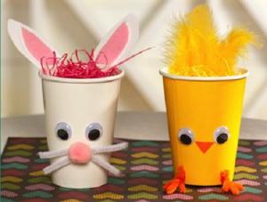 Cute party cup bunny