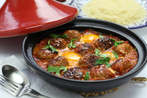 Moroccan lamb and eggs