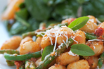 Simple gnocchi spinach and cannellini beans