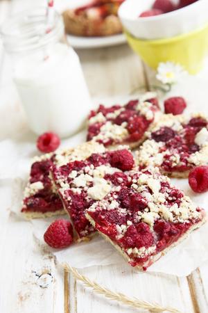 Raspberry slices