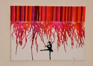Crafts: Melted crayon creations