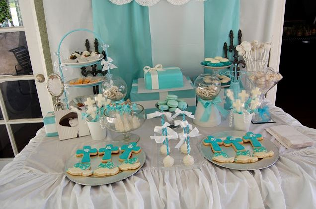 A Tiffany's-inspired First Holy Communion Party