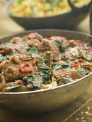 Lamb and spinach curry