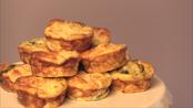 Mini cheddar and kale frittatas