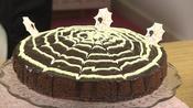 Spider web chocolate cake