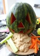 Healthy Halloween hummus