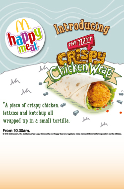 The new Crispy Chicken Wrap