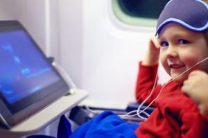 Child safety on an airplane