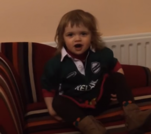 Think youre ready for todays match? You have NOTHING on this toddler!