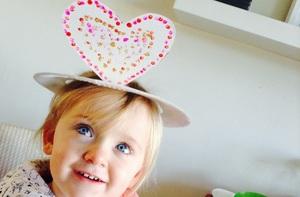 Valentines Day Heart Hat