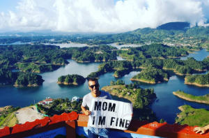 27-year-old travelling the world reassures his mum hes safe with these amazing pictures