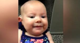 Baby can't believe her ears as she hears sound for the VERY FIRST TIME
