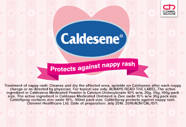 Check out the Caldesene range of nappy rash products