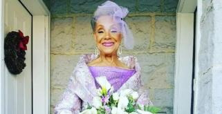 'Everyone can find love again': Grandmother, 86, marries in a PURPLE wedding dress