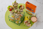 Falafel Power Ball Wraps with Sweet Chilli Mayo