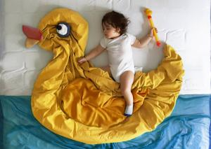 How one mum creates dreamy adventures for her sleeping newborn