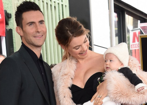 Adam Levine got honoured in Hollwood, but his BABY stole the show