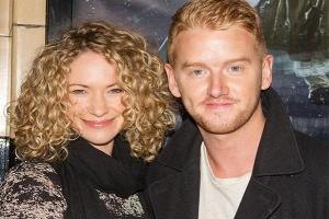 So proud: Corrie star Mikey North introduces his first child to the world