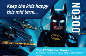 Win a family pass to the cinema this mid-term